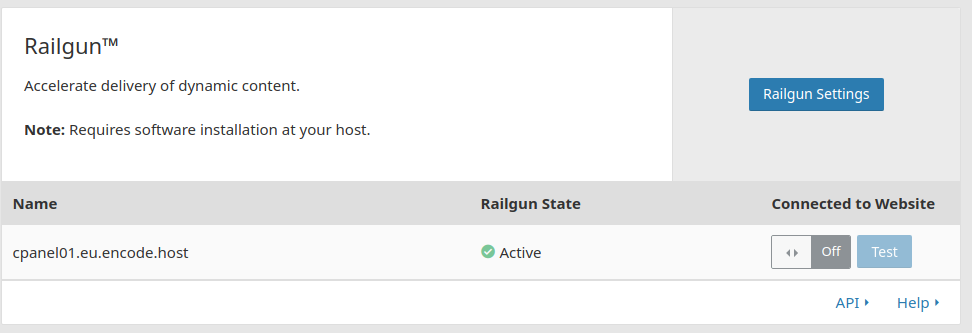Cloudflare Navigation ~ Railgun Options